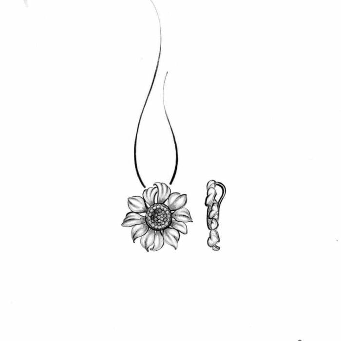 Sunflower pendant - A.Brask