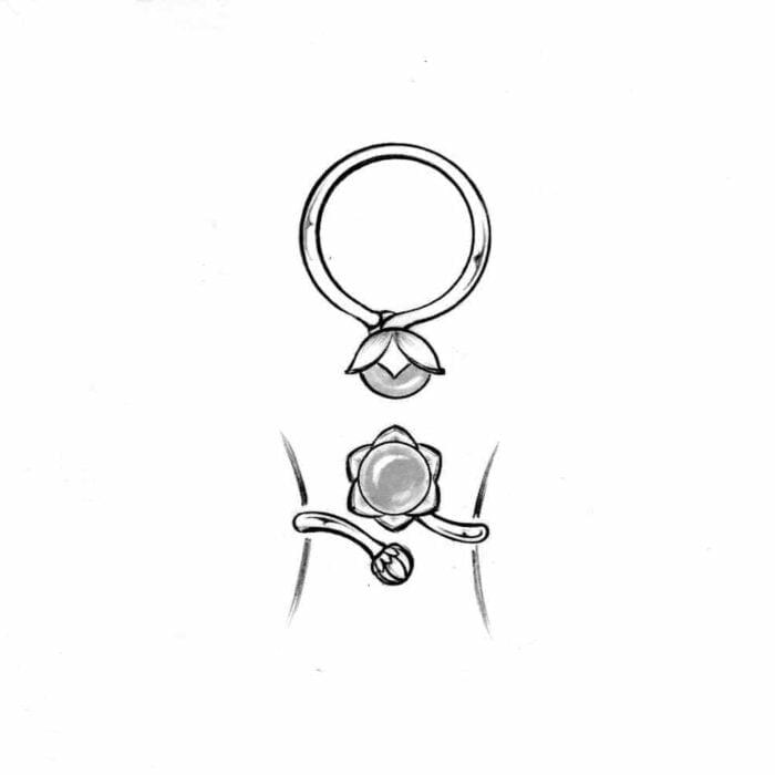 Bonderose adjustable ring - A.Brask