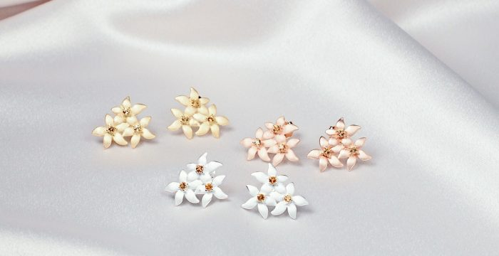 A.Brask - Lemon flower - Earring