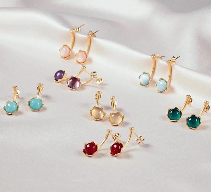 A.Brask - Earrings with stones