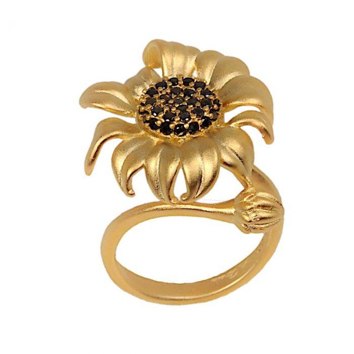 A.Brash - Sunflower adjustable ring