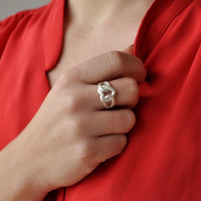 A.Brask - Mine forever - Ring in silver - Hand model