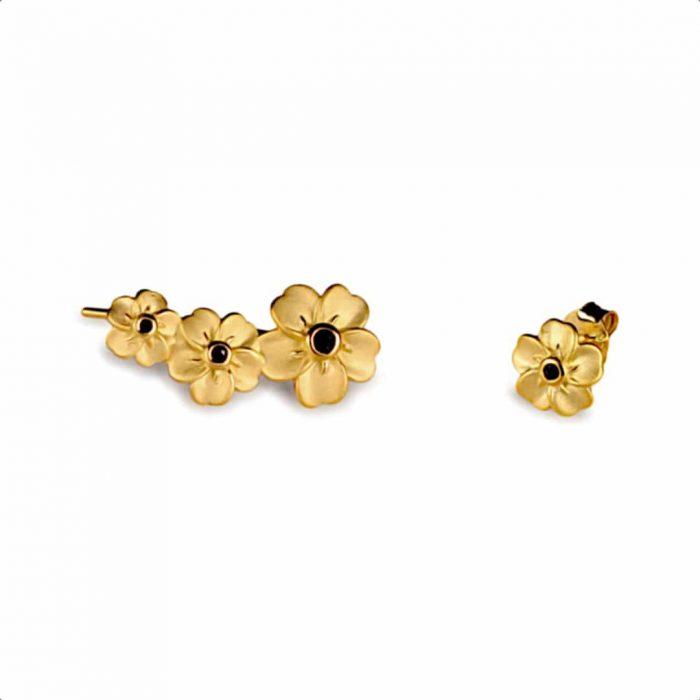 A.Brask - Forget-me-not mismatch earrings - Earring