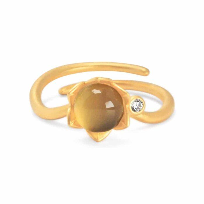 A.Brash - Peasant rose adjustable ring - gold - Ring
