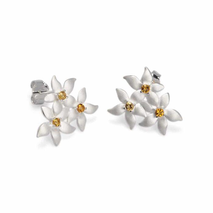 A.Brask - Lemon flower ear studs - Earring
