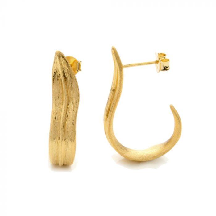 A.Brask - Tulipan leaf hoops earrings - Earring