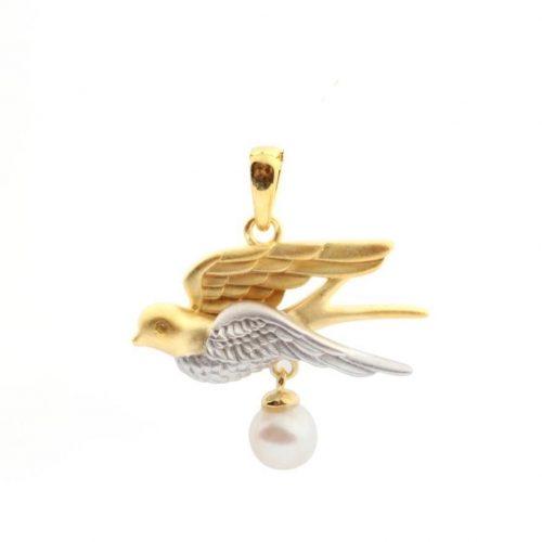 A.Brask - Swallow pendants - Pearl