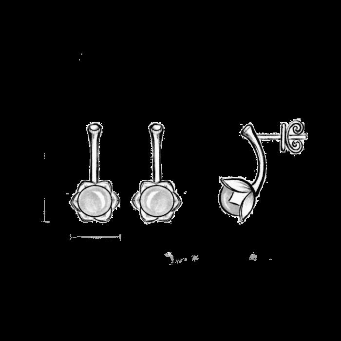 Peasant Rose Earrings - A.Brask