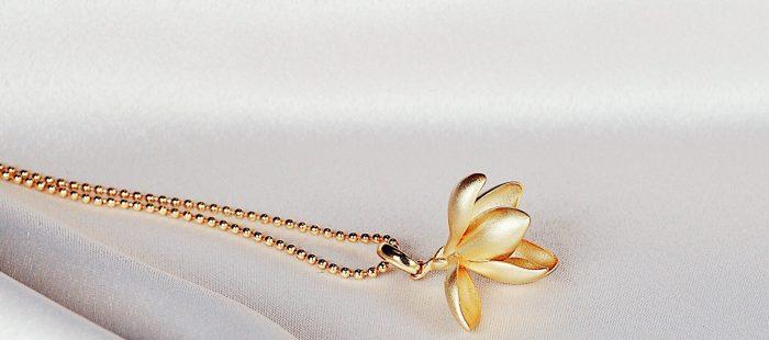 A.Brask - Snowdrop pendant - Gold