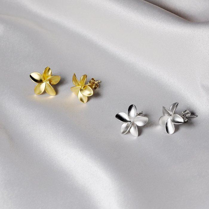 A.Brask - Plumeria small ear studs - Earring