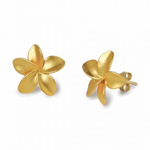 A.Brask - Small Plumeria ear studs - Earring