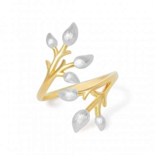 A.Brass - Flowering branch full adjustable ring - Jewelry