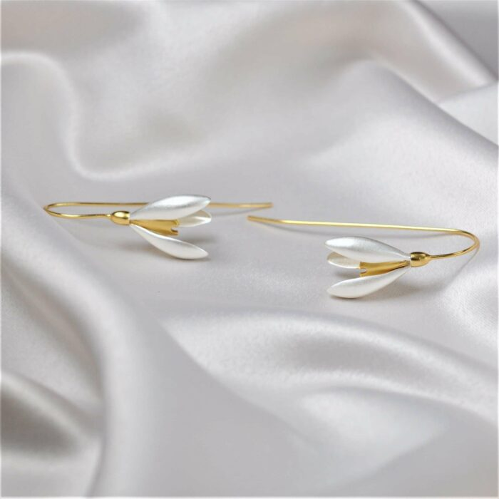 Snowdrop earrings -A.Brash