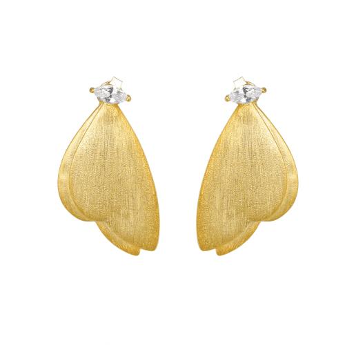 Butterfly earrings with stones - A.Brask